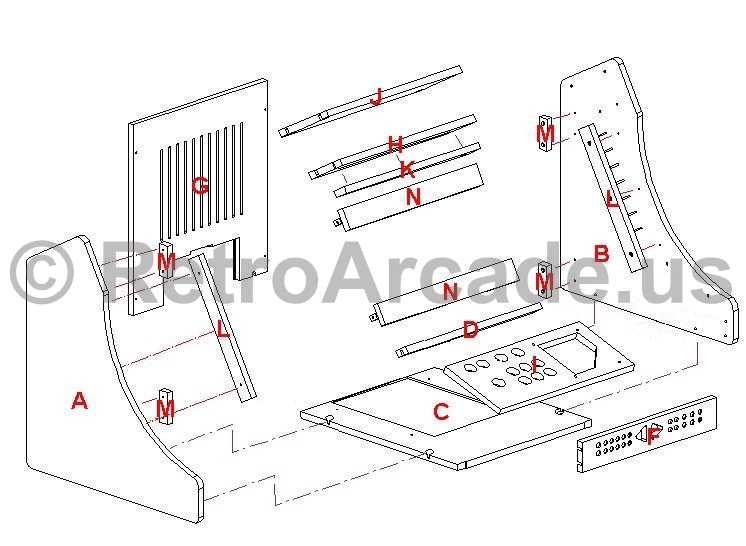 wiring diagram for arcade machine