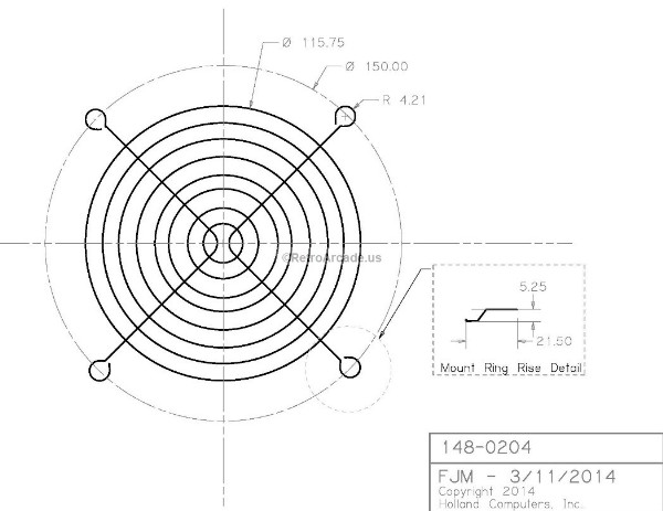 Fan Guard For 120mm Or 12cm Fans Tone Metal Wire Computer Pc Or