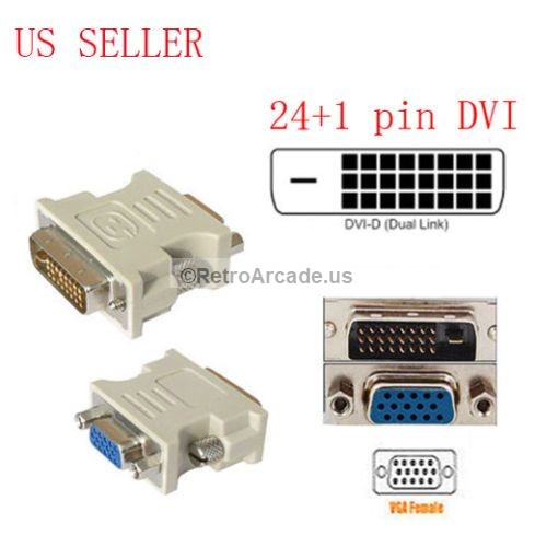 25pin (24 1) dvi d male to 15pin vga female adapter dvi to vga adapter dvi d to vga wiring #2