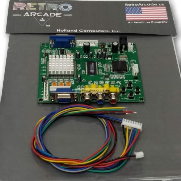Arcade Game RGB-CGA-EGA-YUV to VGA Arcade HD-Converter PCB (GBS-8200)  Converts older arcade systems to LCD monitors