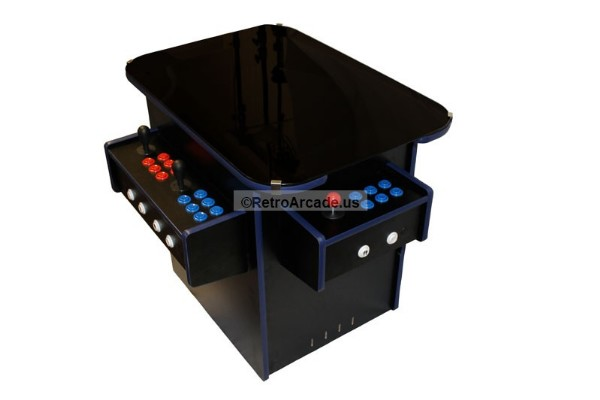 complete cocktail multicade jamma icade mame 3 sided arcade game system  kit, build your own arcade