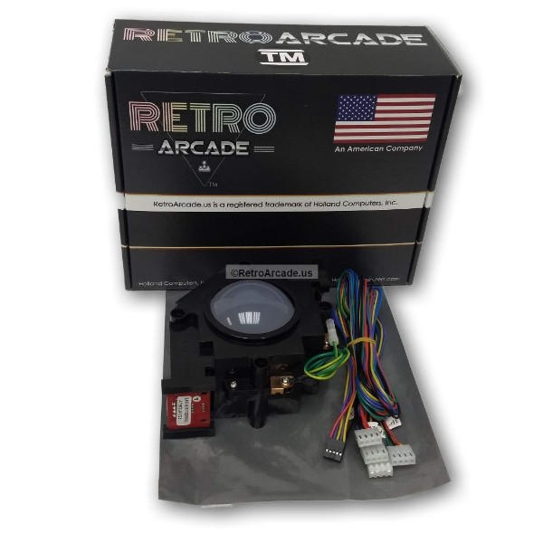 3in arcade trackball with interface harness for jamma 412