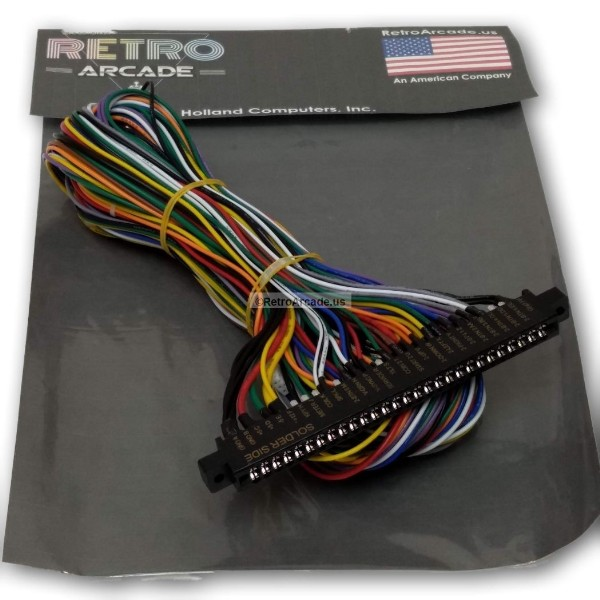 jamma board standard cabinet wiring harness loom for jamma 60-in-1 pcb  board, 738435028725  holland computers