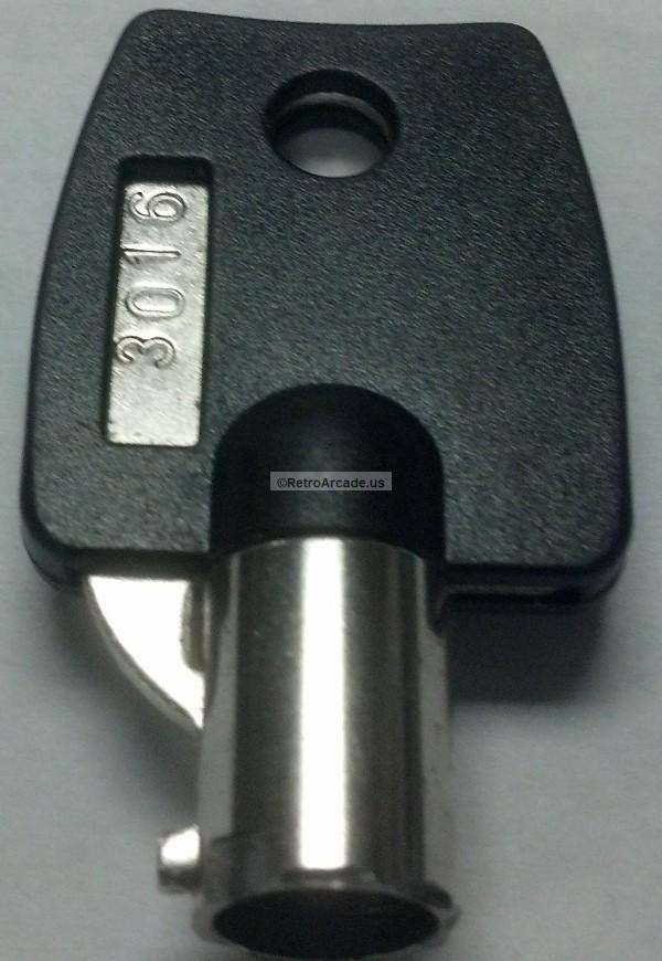 Arcade Pinbal Game Coin Door Lock Key No 3016 Replacement