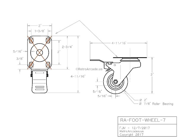 foot wheel  industrial casters 2 u0026quot  wheel 250 lbs  locking