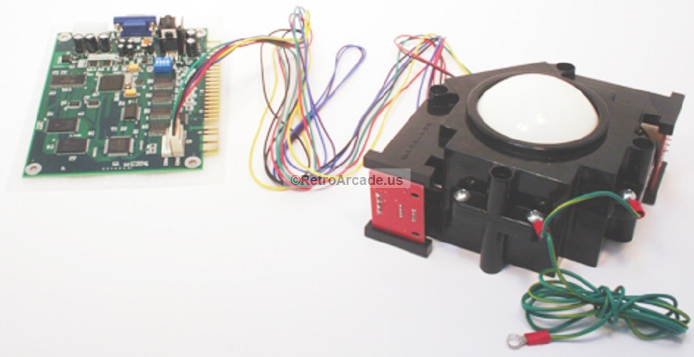 3in arcade trackball with interface harness for jamma 60 in 1 rh hollandcomputers com Wiring Harness Diagram Automotive Wiring Harness