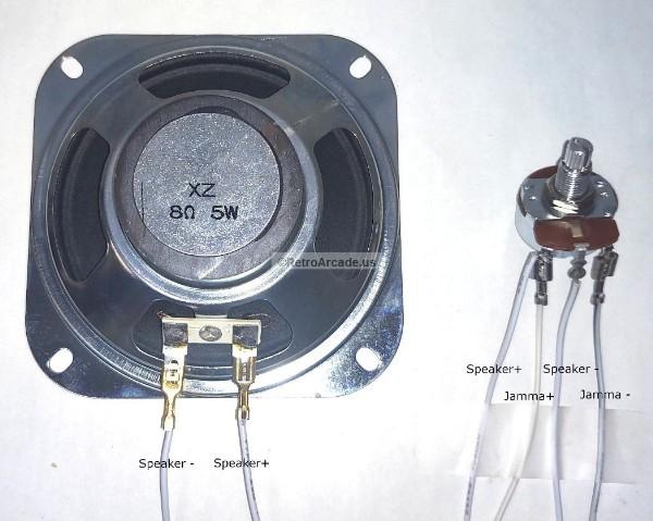 Solderless 25-Ohm 3-Watt Rheostat Kit - Pre-Wired for JAMMA or MAME on timer wiring, knob wiring, diode wiring, amplifier wiring, potentiometer wiring,